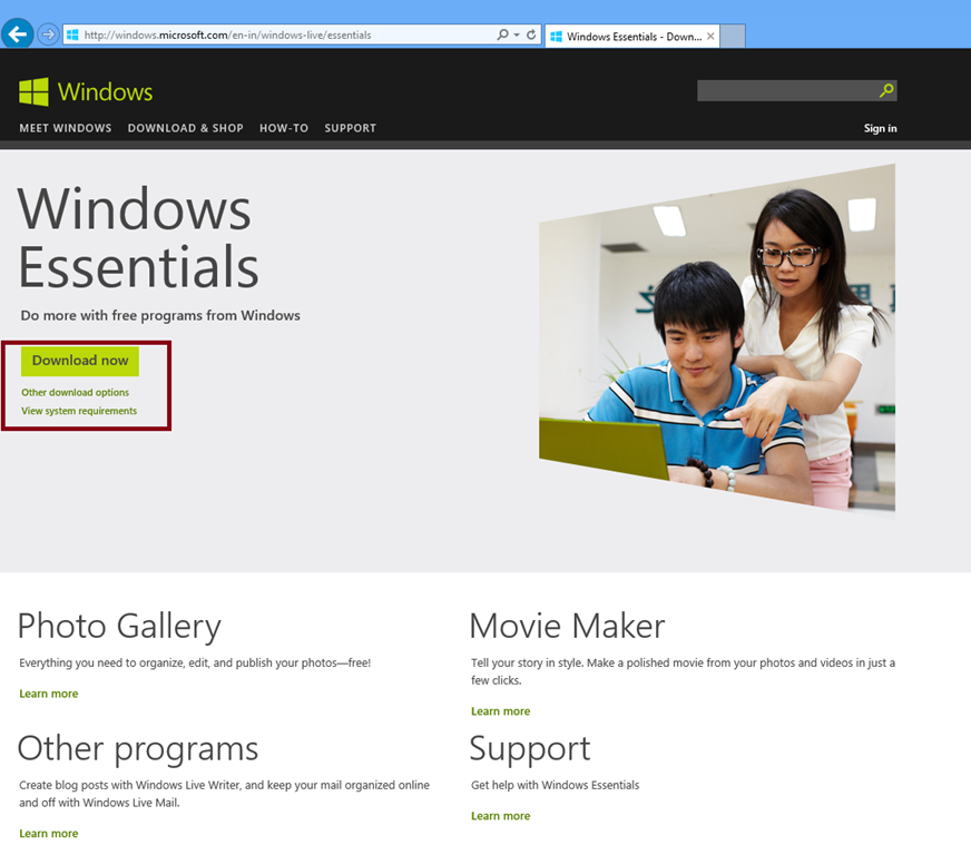 how to install windows live mail essentials in windows 8. Black Bedroom Furniture Sets. Home Design Ideas