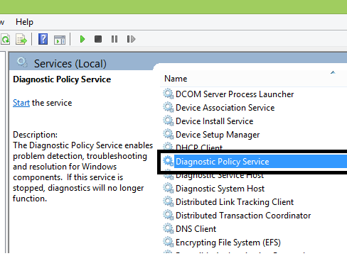 Fix: Diagnostics Policy Service not running in Windows 8 | 8.1