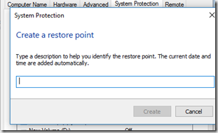 restore point name