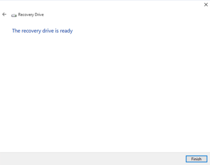 how to make a usb recovery drive windows 10