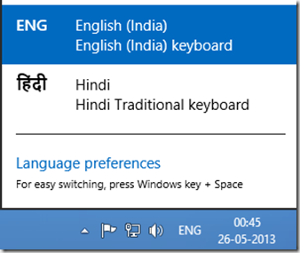 Change input language