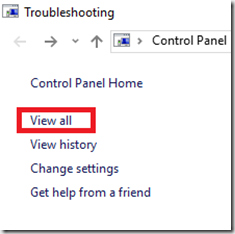 control panel troubleshoot