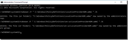 policy location adml admx delete
