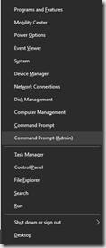 power menu windows 10